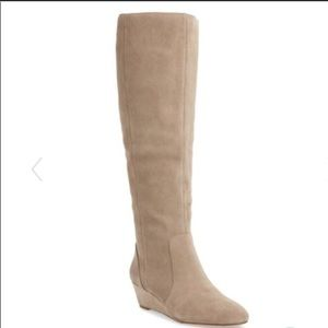 Sole Society Alieena suede wedge boot